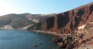 red beach spiagge santorini